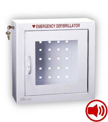 Compact Size AED Wall Cabinet with Audible Alarm