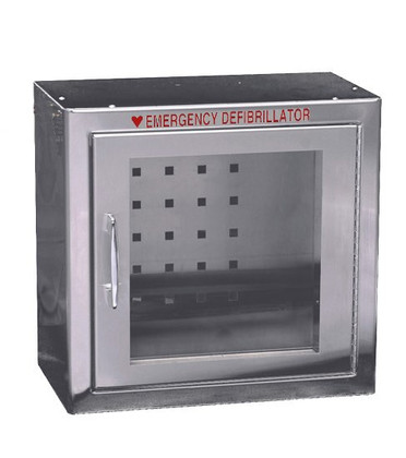 Compact Size Stainless Steel AED Wall Cabinet