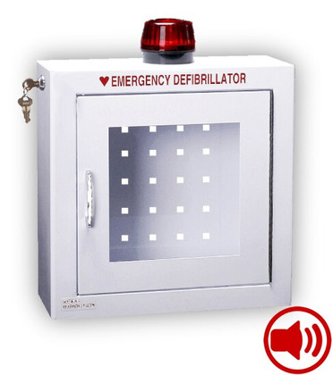 Compact Size AED Wall Cabinet with Audible Alarm and Strobe Light