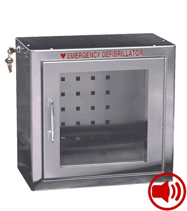 Compact Size Stainless Steel AED Wall Cabinet with Audible Alarm
