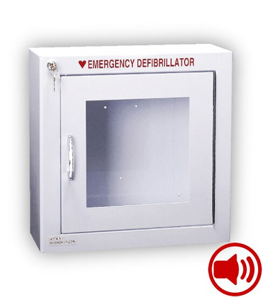 Standard Size AED Wall Cabinet with Audible Alarm