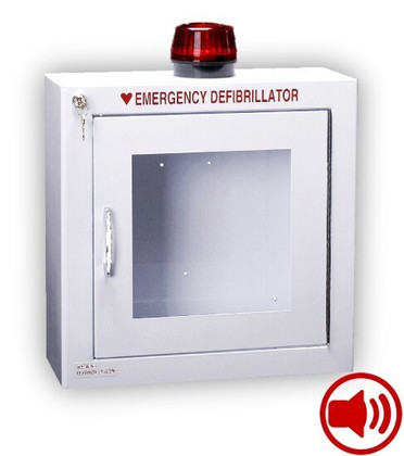 Standard Size AED Wall Cabinet with Audible Alarm and Strobe Light
