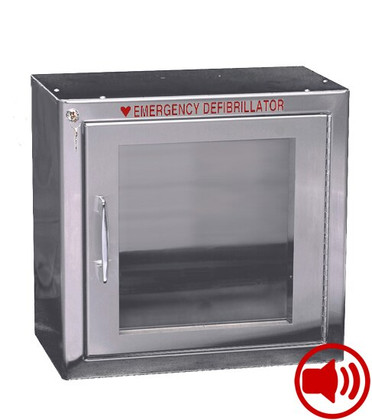 Standard Size Stainless Steel AED Wall Cabinet with Audible Alarm