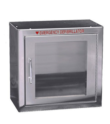 Standard Size Stainless Steel AED Wall Cabinet