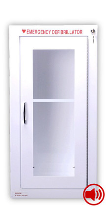 Tall Size AED Wall Cabinet with Audible Alarm