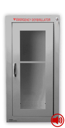 Tall Size Stainless Steel AED Wall Cabinet with Audible Alarm