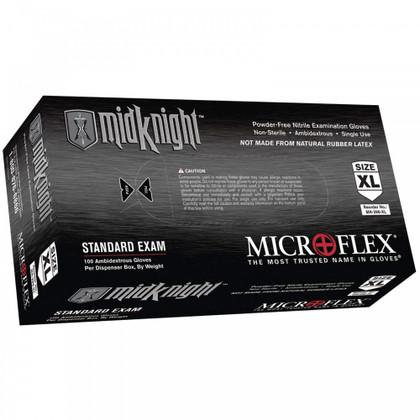 Microflex Midknight Powder Free Nitrile Glove
