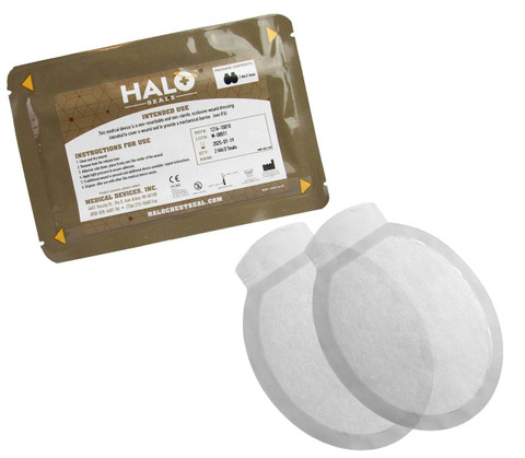 Halo Occlusive Chest Seal - 2 PACKAGE - NEW PACKAGING
