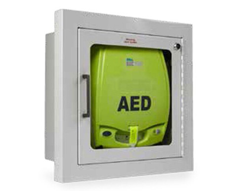 Zoll AED Plus Wall Cabinet with Audible Alarm - Semi Recessed - With AED ***AED Sold Separately***