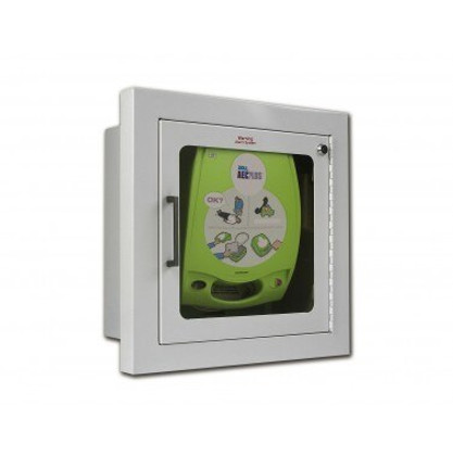 Zoll AED Plus Wall Cabinet with Audible Alarm - Full Recessed - With AED ***AED Sold Separately***