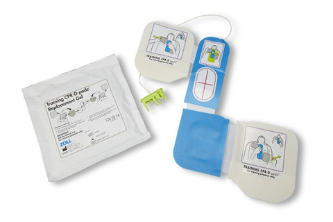 Zoll CPR-D Training Padz Electrodes with packaging