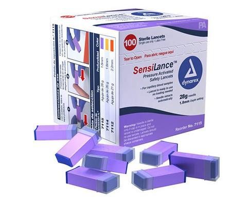 Dynarex SensiLance Pressure Activated Safety Lancet - 28 Gauge