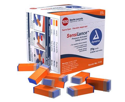 Dynarex SensiLance Pressure Activated Safety Lancet - 21 Gauge