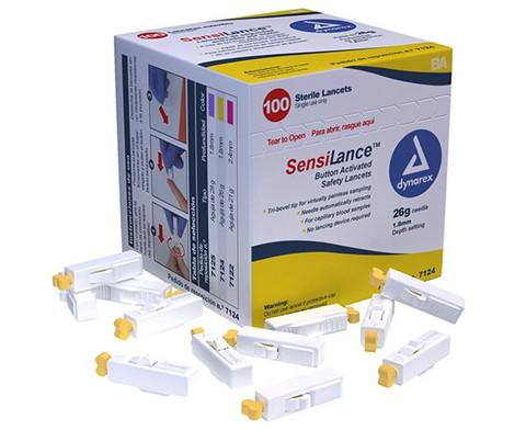 Dynarex SensiLance Button Activated Safety Lancet - 26 Gauge