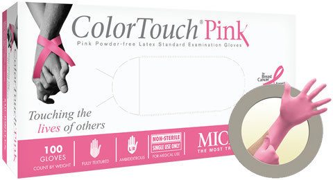 Microflex ColorTouch Pink Powder Free Latex Glove