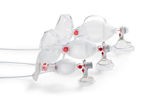Ambu Spur II Disposable Resuscitator showing all three sizes
