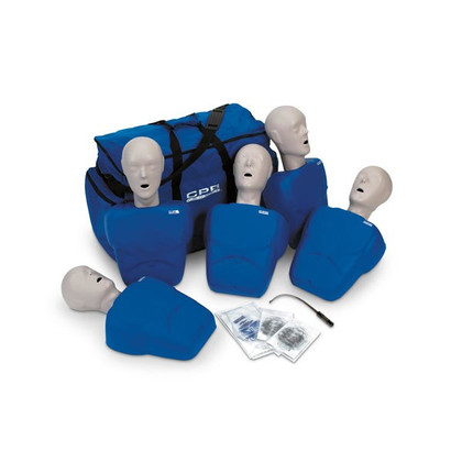 CPR Prompt 5 Pack Adult/Child Training and Practice Manikin - Blue