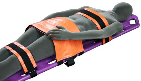 IMAGE SHOWS SPECTRUM STRAPS ALSO BEING USED WITH PELVIC IMMOBILIZER. (SOLD SEPARATELY)