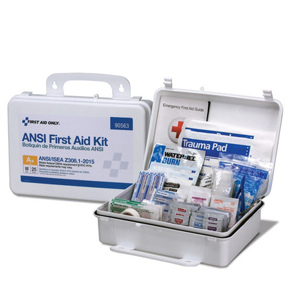 First Aid Kit Plastic Case - 25 Person (ANSI Compliant)