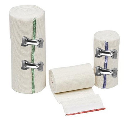 Sure-Wrap Elastic Bandages with Clips - White