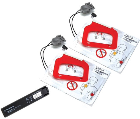 LIFEPAK CR Plus/EXPRESS Battery w/2 Set Electrode Pads - Adult