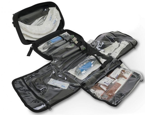 Meret AIRWAY Intubation TriFold Module - Infection Control - Black - Open ***Supplies Sold Separately***