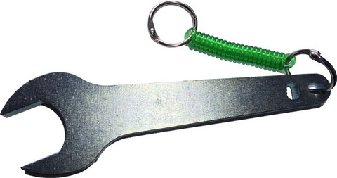 Large Oxygen Cylinder Wrench - Steel with teether
