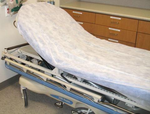 Medical Stretcher Hospital Sheets white