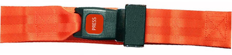 Nylon 1 pc. Metal Buckle Spineboard Strap - 9'