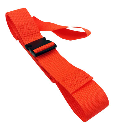 Poly 2 pc. Plastic Buckle & Loop End Spineboard Strap - 5'