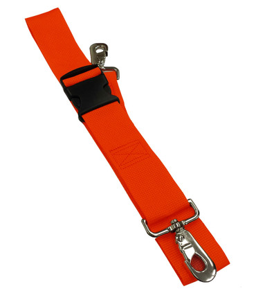 Poly 2 pc. Plastic Buckle & Speed Clip Spineboard Strap - 7'