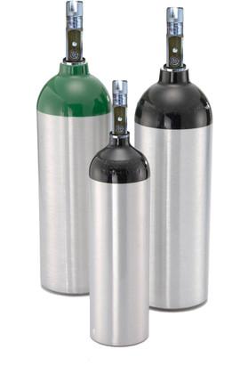 Aluminum Oxygen Cylinder Size D (M-15) - With Z Valve