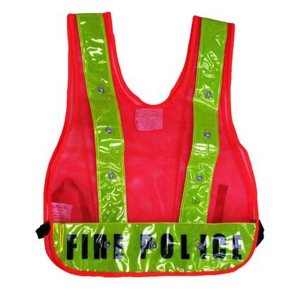 Class 1 LED Safety Vest - Fire Police Orange