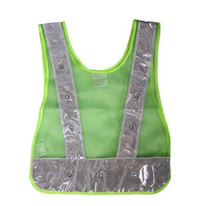 Class 1 LED Safety Vest - Plain Green