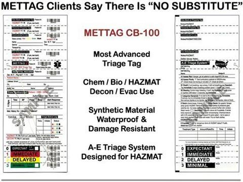 Chem Bio Hazmat Triage Tags - 25 Pack