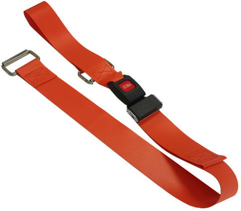 Impervious 2 pc. Metal Buckle & Metal Loop End Spineboard Strap - 5'