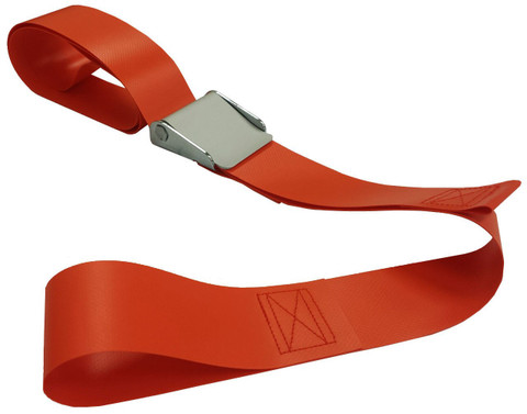 Impervious 2 pc. Metal Cam Buckle & Loop End Spineboard Strap - 7'