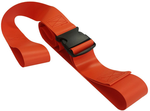 Impervious 2 pc. Plastic Buckle & Loop End Spineboard Strap - 5'