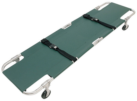 Junkin Easy-Fold Wheeled Stretcher - 4 Wheels