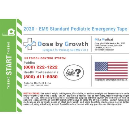 EMS Standard Pediatric Emergency Tape - 2020