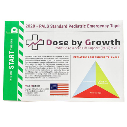 ALS Standard Pediatric Emergency Tape - 2020