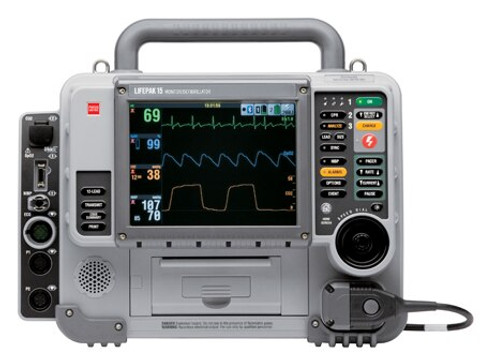 Physio-Control LIFEPAK 15 - AED, 12 Lead, Pacing, SpO2, NIBP, EtCO2, Bluetooth - Refurbished