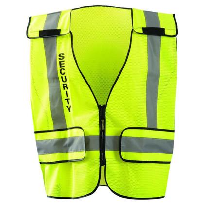 Occunomix DOR Public Safety Security Mesh Vest - H Back front View