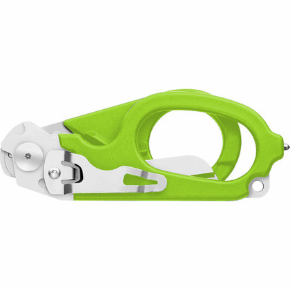 Leatherman Raptor Medical Shears Multi-Tool - Green with MOLLE Holster folded up