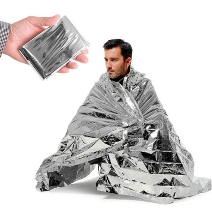 Emergency Space Thermal Mylar Blanket - Adult (250 Bulk Pack)