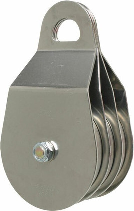 """CMI Triple Rescue Pulley 4"""" Stainless Steel - Needle Bearing"""
