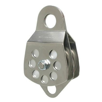 "CMI Rescue Pulley 3"" Stainless Steel With Becket - Double"