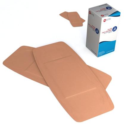 """Dynarex Flexible Fabric Adhesive Bandages - Size 2"""" X 4.5"""""""