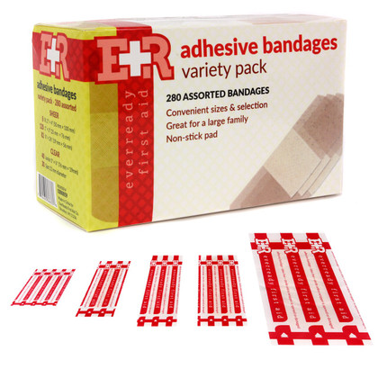 Flexible Sheer Adhesive Bandages - Variety Pack