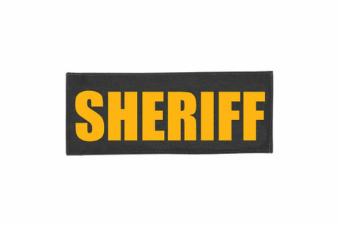 Sheriff Velcro ID Placard Black
